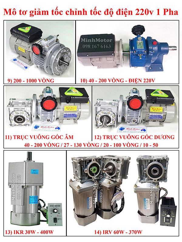 Mô Tơ Đài Loan điều chỉnh tốc độ 1 pha 220v