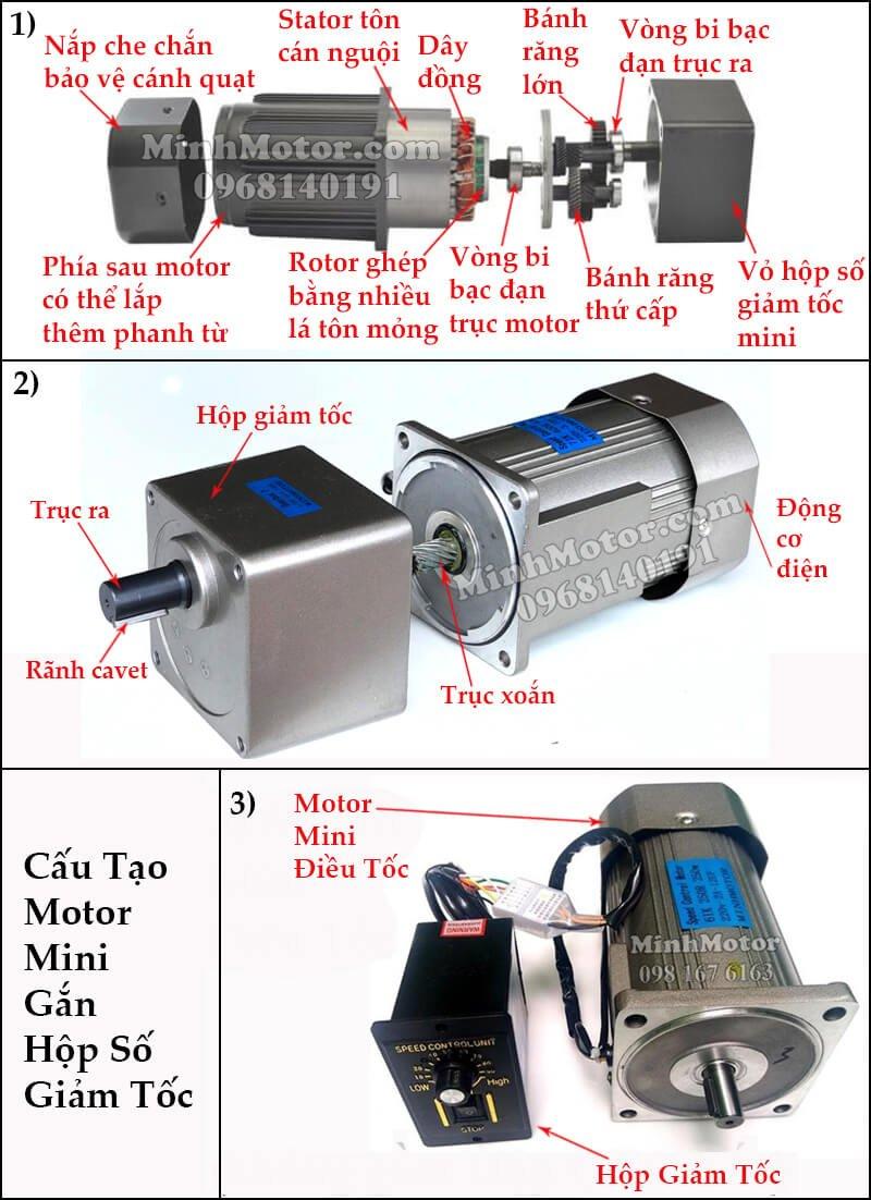 Cấu tạo motor Đài Loan mini