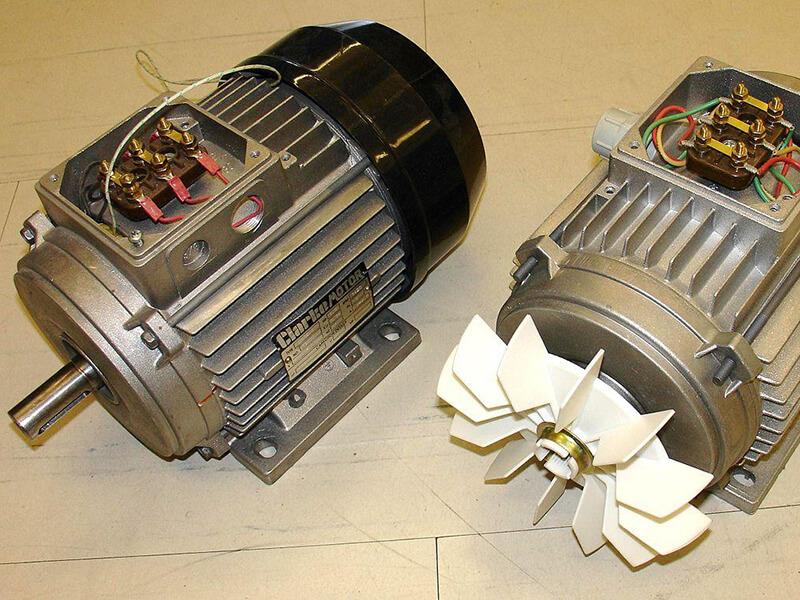 Stator được quấn với các cuộn dây lệch nhau về không gian