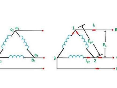 Sơ đồ cách đấu dây điện 3 pha 4 dây cũng khá đơn giản