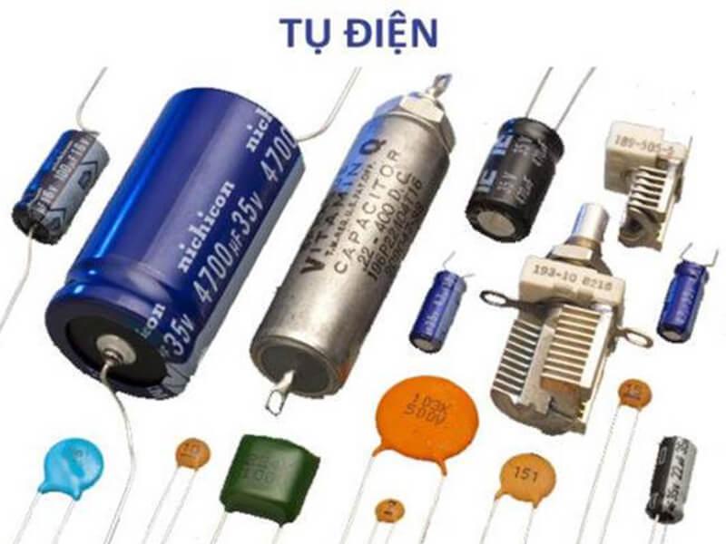 Tụ điện là một linh kiện bao gồm có 2 cực thụ động