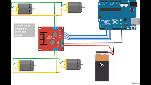 Điều khiển xe Arduino bằng bộ điều khiển L298N