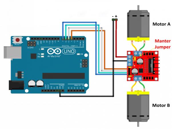 Mạch điều khiển tốc độ motor dc 220V với chip L298N