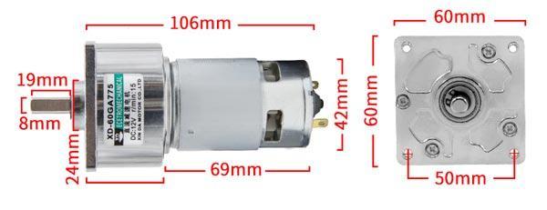 Kích thước trung bình của 1 hộp giảm tốc được sử dụng phổ biến hiện nay