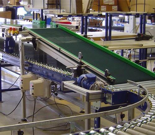 Hộp giảm tốc phân đôi trên băng chuyền để sản xuất thực phẩm