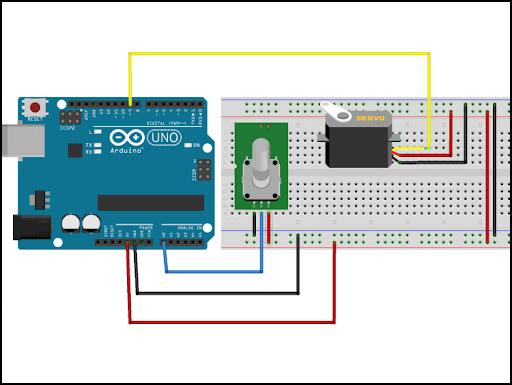 Sử dụng code Arduino để tiến hành điều khiển động cơ servo