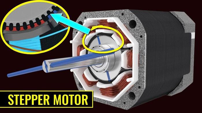 Step Motor có ưu điểm đầu tiên là khả năng cung cấp mô men xoắn cực lớn