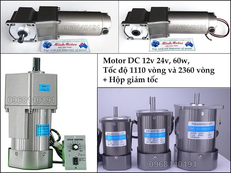 Động cơ điện 1 chiềuDC hoạt động bằng dòng điện 1 chiều