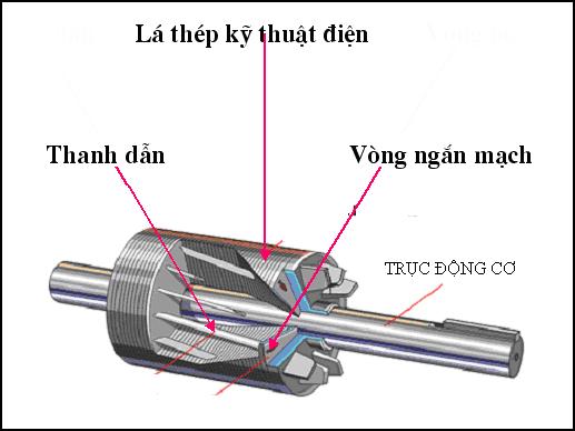 Nguyên lý hoạt động của motor roto lồng sóc