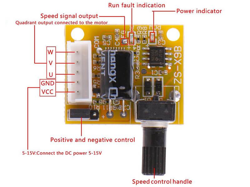 Mạch điều khiển tốc độ của động cơ BLDC DC 5V-12V 2A 15W