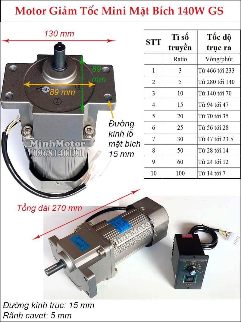 Động cơ điều tốc 220v motor mini 1 pha loại nhỏ