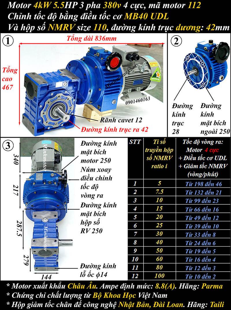 Bộ điều khiển tốc độ motor 3.7kw 5hp trục vuông góc cốt dương
