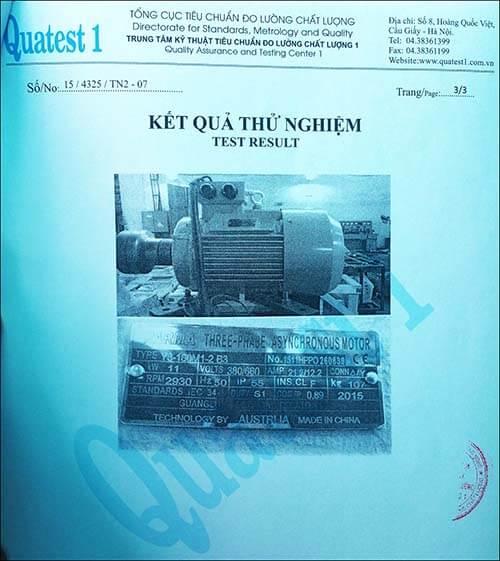 chất lượng motor 11kw 15hp