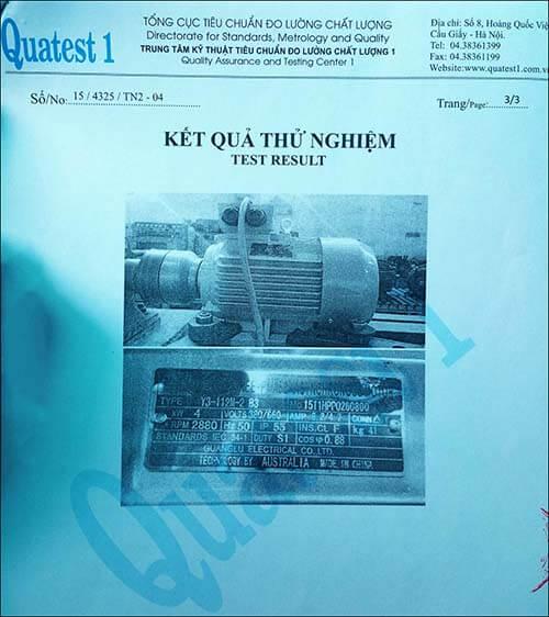 chất lượng motor 3.7kw 5hp