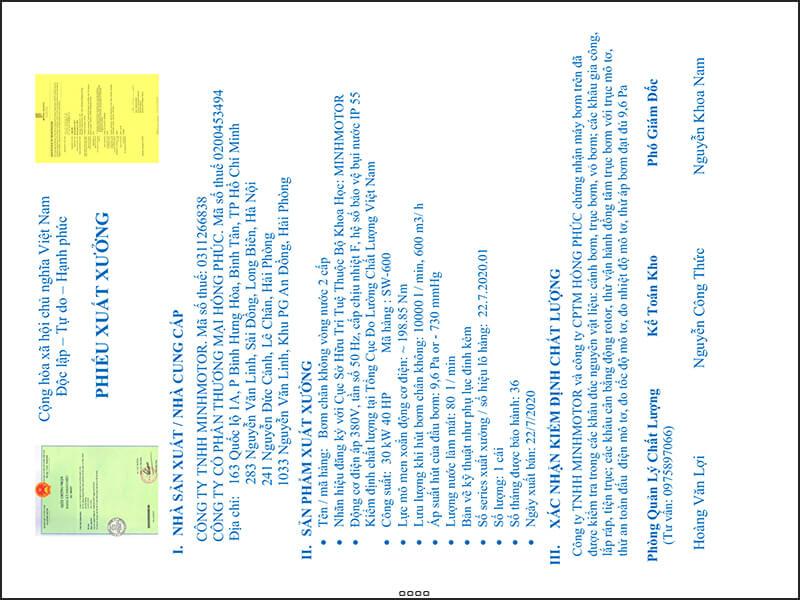 Kiểm định chất lượng xuất xưởng Bơm chân không vòng nước 3.7kw 5HP 5 ngựa
