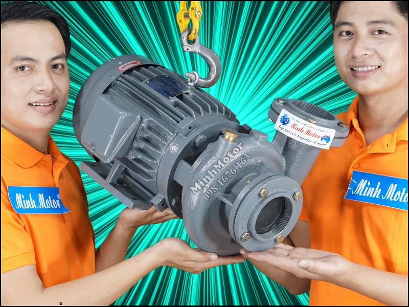Giá bơm nước Teco 0.75kw 1Hp second hand