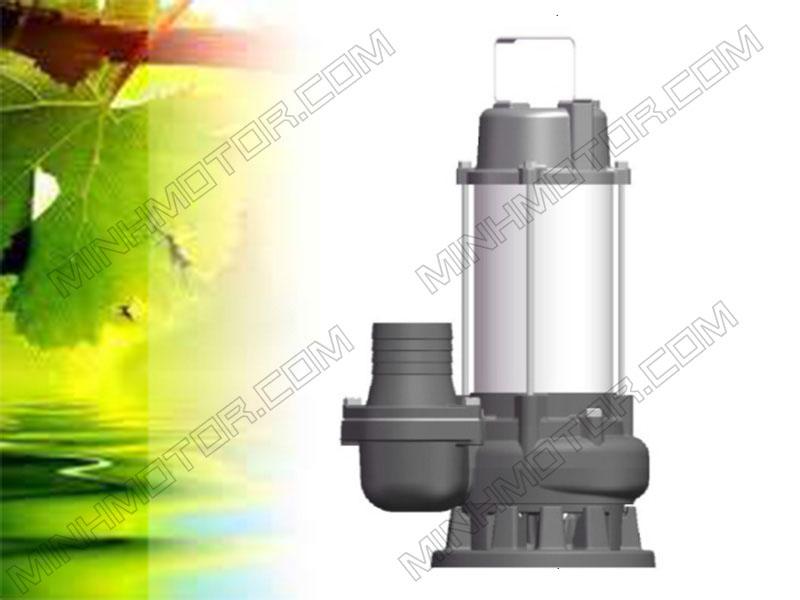 Bơm chìm nước thải thân Inox 2HP 1.5kw 2 ngựa 220v 1 pha