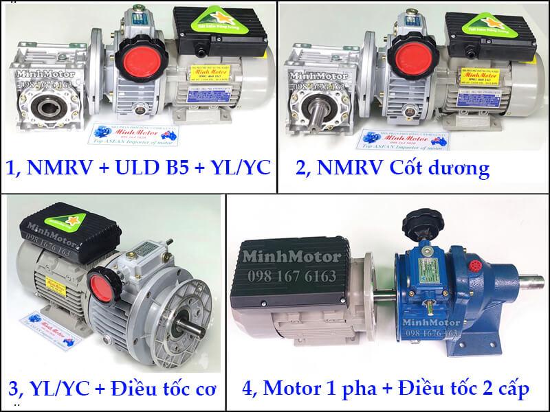 Motor 220v điều tốc cơ bằng tay 0.37kw 0.5HP 0.5 ngựa