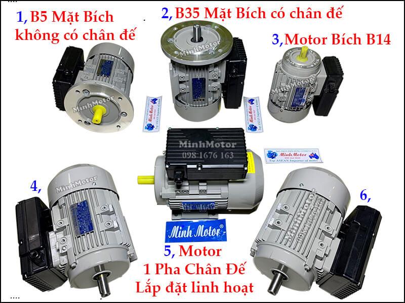 Motor 1 pha 1.1kw 1.5HP 4P