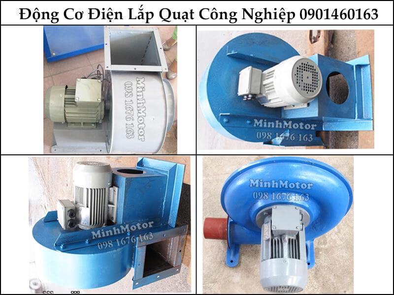 Động Cơ Điện 3 Pha 0.75Hp 0.55Kw 4 Cực Điện trong lắp đặt quạt công nghiệp
