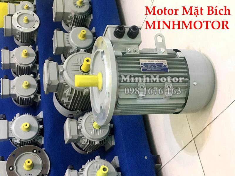 Motor điện 3 Pha 0.75Hp 0.55Kw 4 Pole mặt bích B35