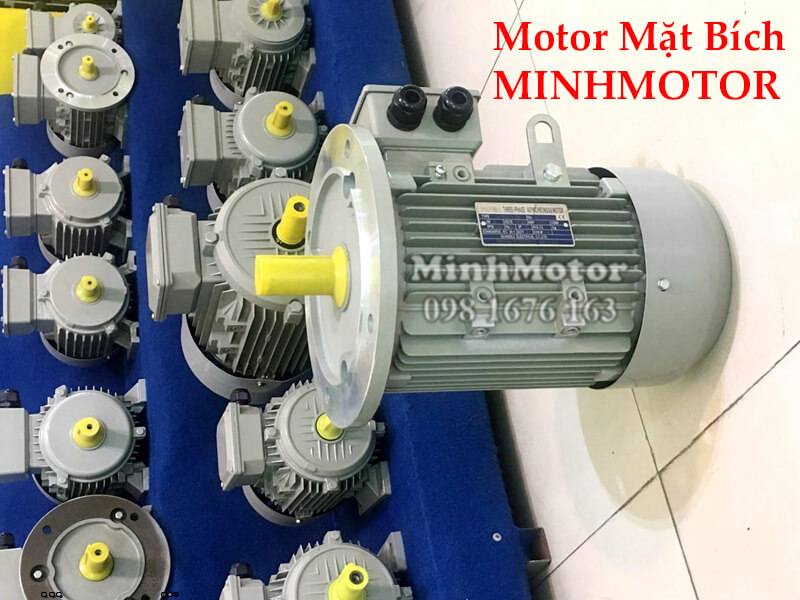 Motor điện 3 pha 1.1kw 1.5HP 2 pole mặt bích B35