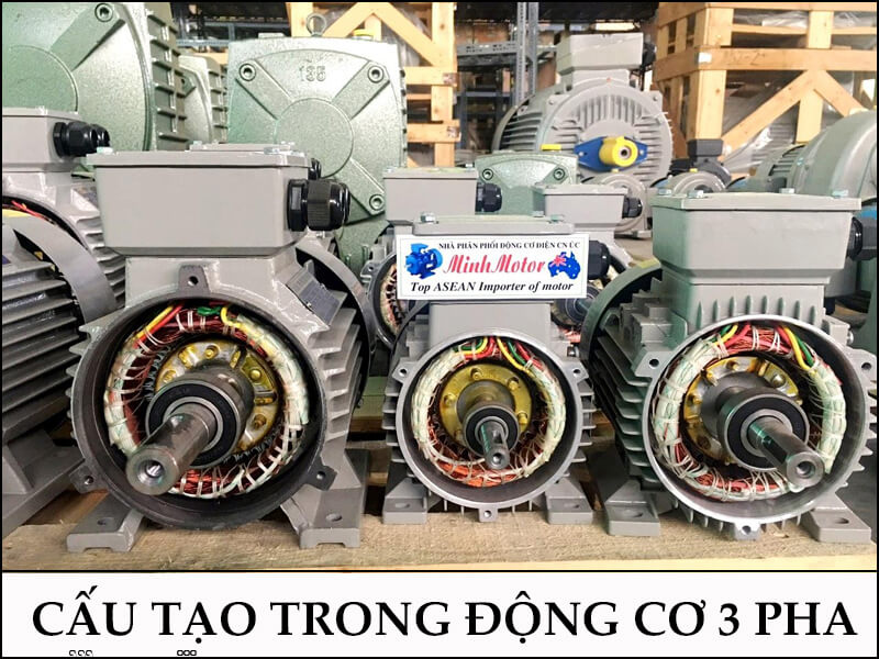 Cấu tạo trong Động Cơ Điện 3 Pha 3Hp 2.2Kw 2 Cực Điện