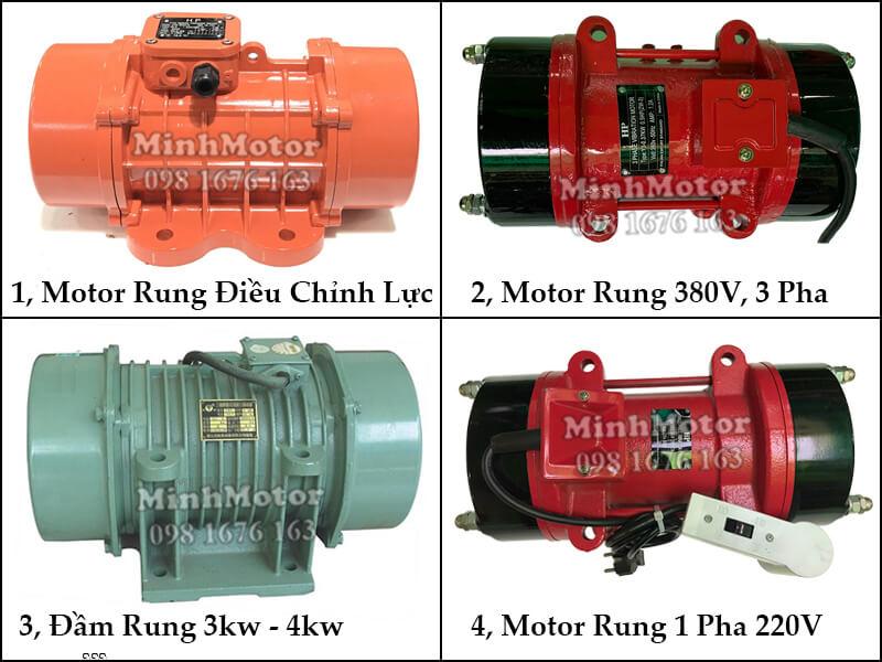 Lắp đặt động cơ rung, đầm rung, motor rung 5Hp 3.7kw 2 poles