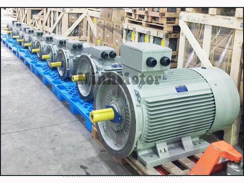 Motor điện 3 pha 55kw 75HP 4 pole mặt bích