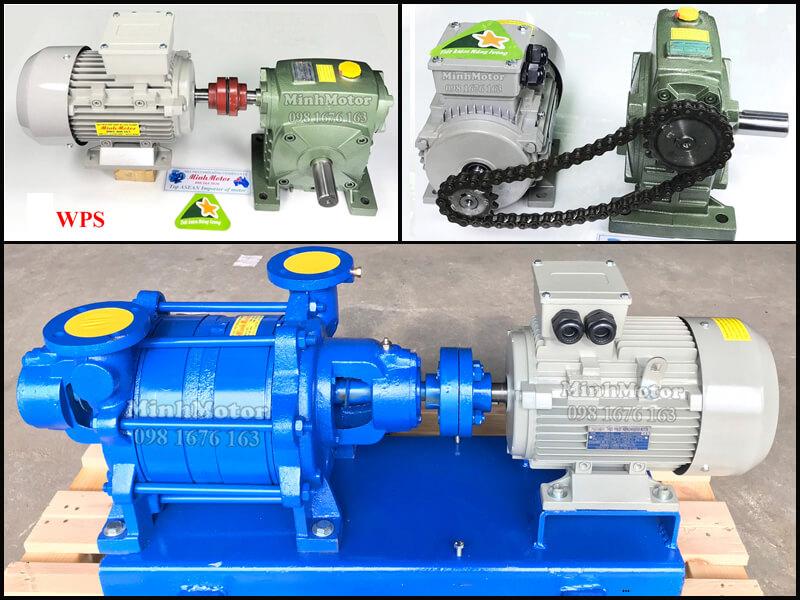 Motor điện 0.75Kw 1Hp 4 pole chân đế truyền động qua khớp nối hoặc nhông xích, puli