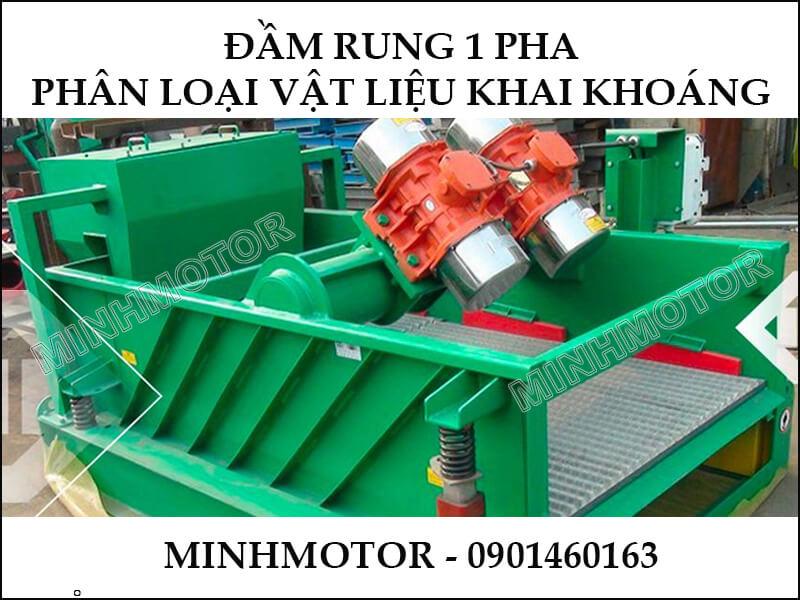 Đầm Rung 1 Pha 1.5kw phân loại vật liệu khai khoáng