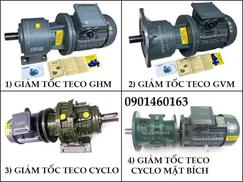 Động Cơ Giảm Tốc Teco 1.1kw 1.5HP Trục Thẳng