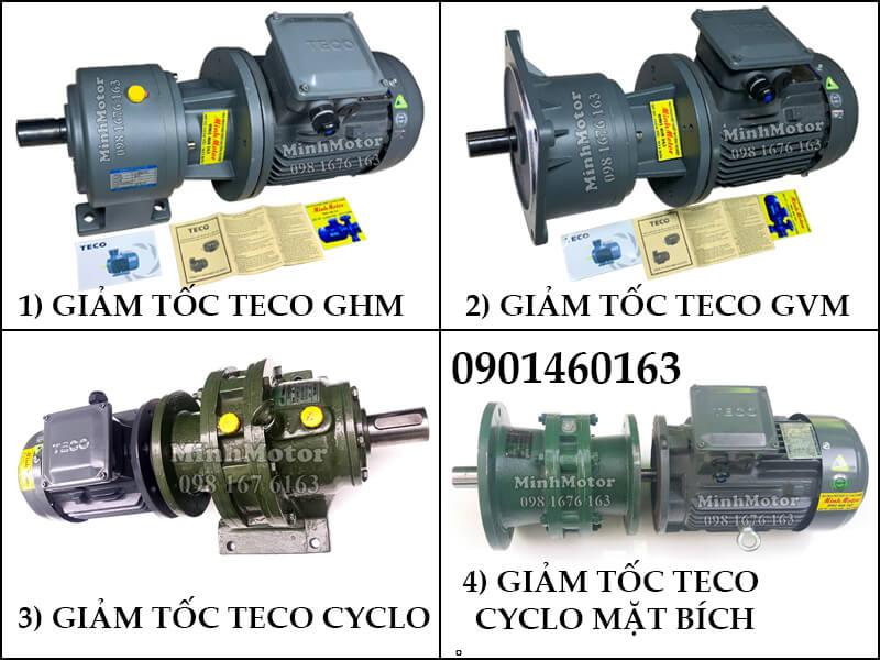 Động Cơ Giảm Tốc Teco 1.5kw 2HP Trục Thẳng