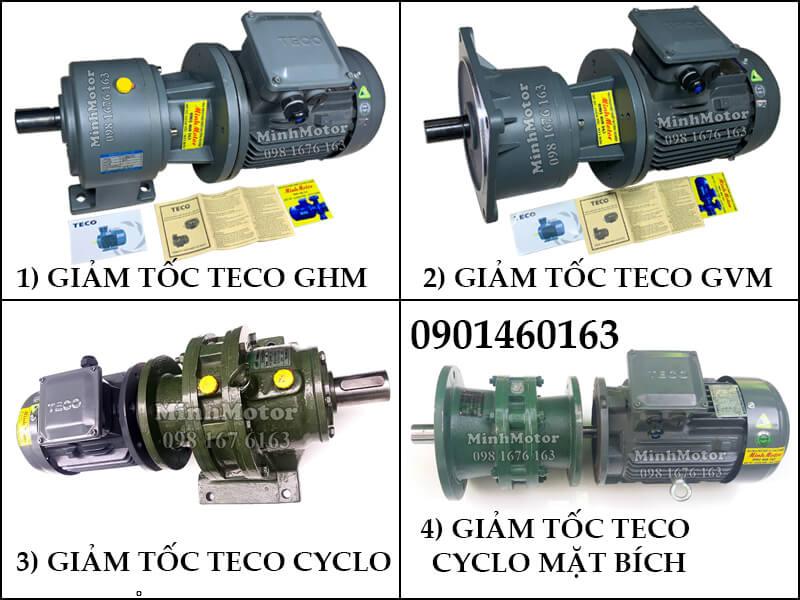 Động Cơ Giảm Tốc Teco 7.5kw 10HP Trục Thẳng