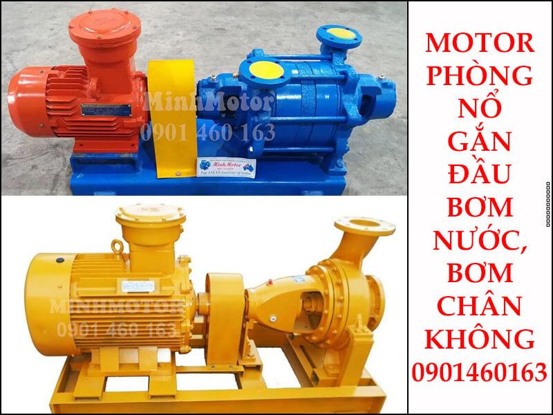 Motor phòng nổ 90kw 120HP gắn đầu bơm nước hoặc gắn với bơm chân không