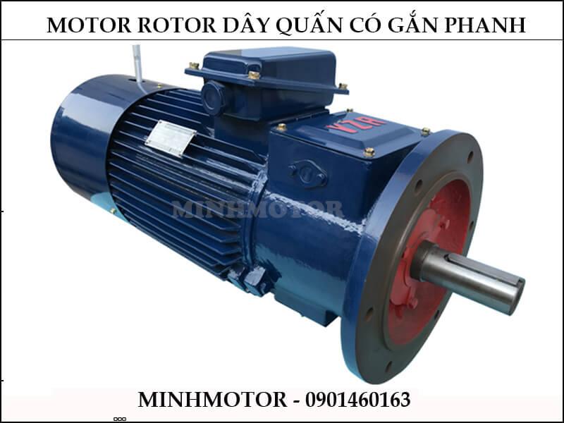 Motor rotor dây quấn gắn có phanh