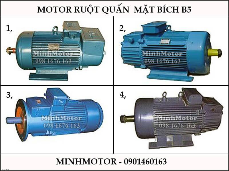 Motor Ruột Quấn 7.5 kw 10 HP mặt bích B5