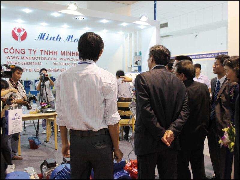 hội chợ triển lãm động cơ giảm tốc 3.7kw 5Hp