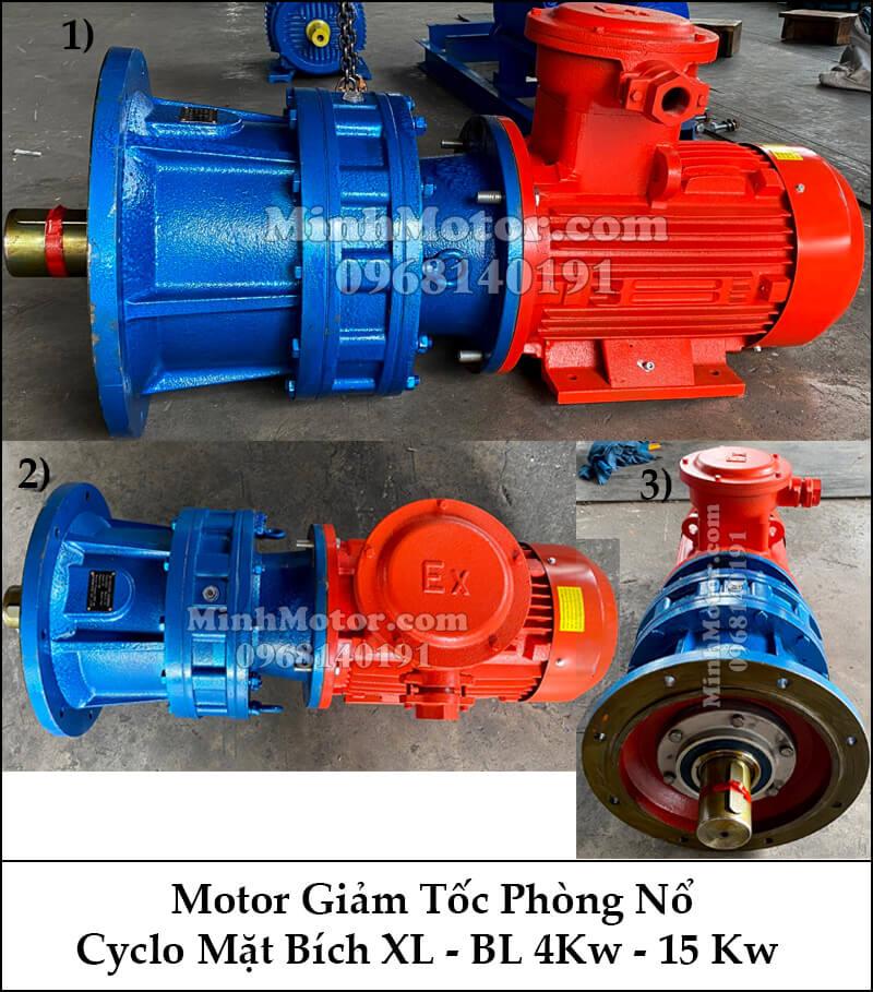 motor giảm tốc phòng nổ Cyclo mặt bích XL - BL 4KW 15Kw