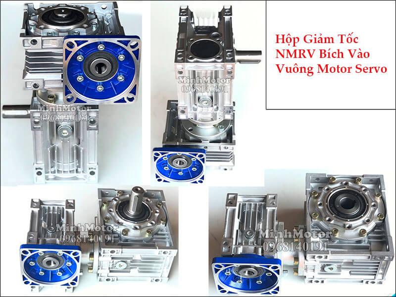 Hộp giảm tốc NMRV bích vào vuông motor servo