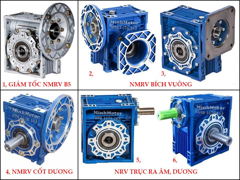 Hộp Số Giảm Tốc NMRV size 63 NMRV B5, NMRV Bích vuông, NMRV cốt dương, NRV Trục ra âm dương