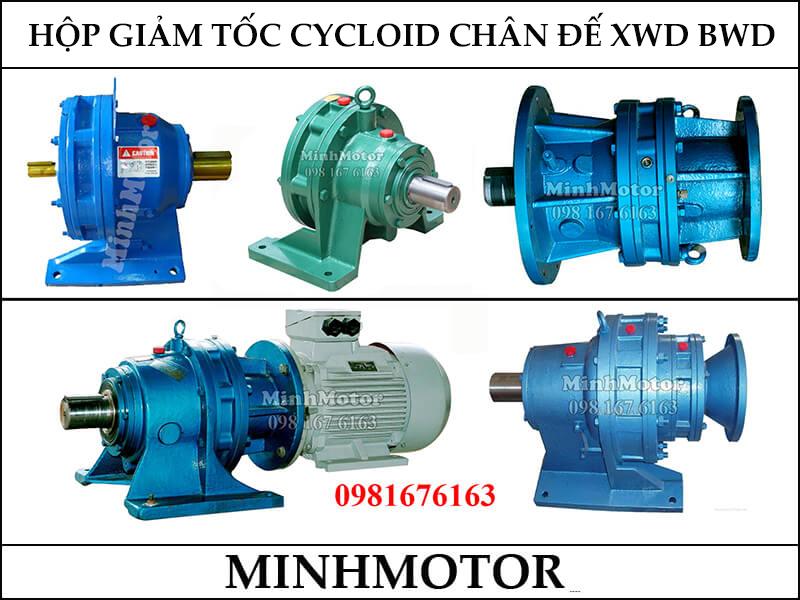 Giảm Tốc Cyclo 1.1Kw 1.5Hp Chân Đế XWD, BWD