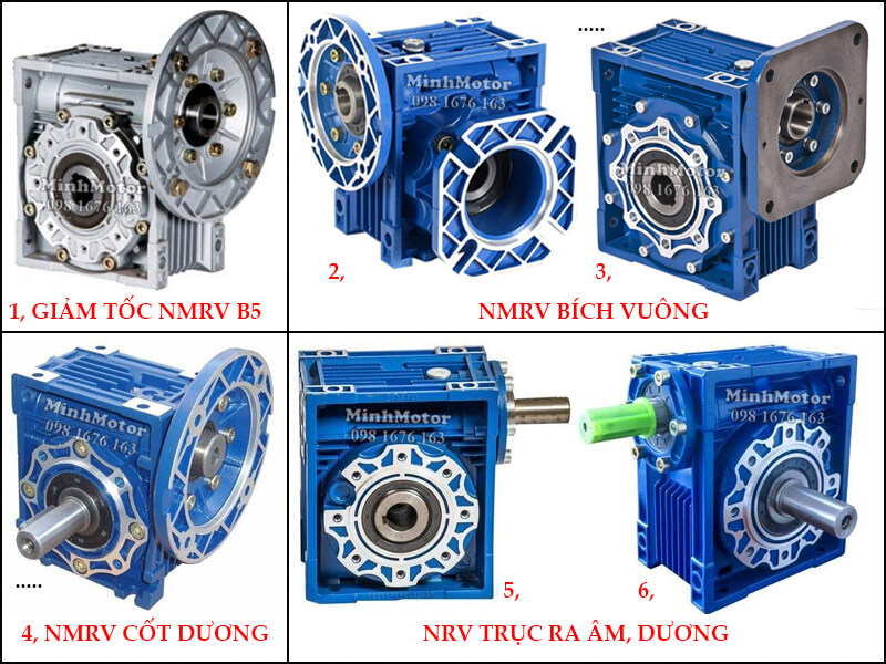 Hộp Số Giảm Tốc NMRV size 75 NMRV B5, NMRV Bích vuông, NMRV cốt dương, NRV Trục ra âm dương