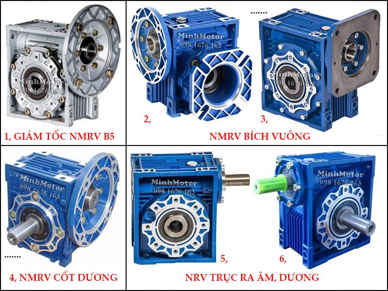 Hộp Số Giảm Tốc NMRV size 110 NMRV B5, NMRV Bích vuông, NMRV cốt dương, NRV Trục ra âm dương