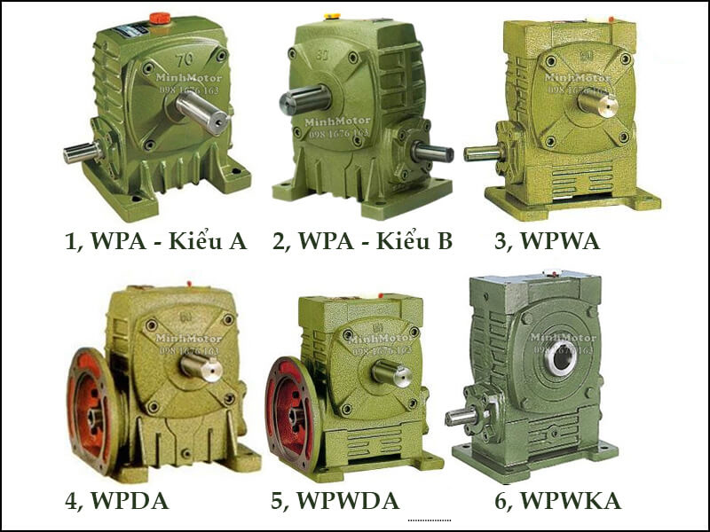Hộp Số Giảm Tốc WPA WPDA Trục Cốt Dưới Size 200 WPA-Kiểu A, WPA- kiểu B, WPWA, WPDA, WPWKA