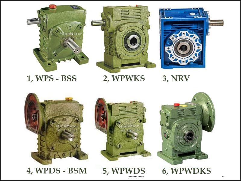 Hộp Số Giảm Tốc WPS WPDS Trục Cốt Trên Size 155 WPS-BSS, WPWKS, NRV, WPDS-BSM, WPWDS, WPWDKS