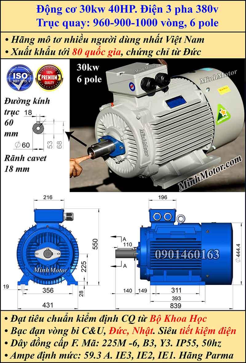 Động cơ điện 30W 40HP 900-1000 vòng, chân đế