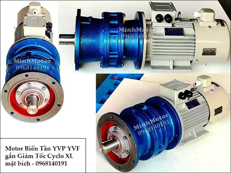 Motor biến tần YVP YVF gắn giảm tốc Cyclo mặt bích 1 cấp