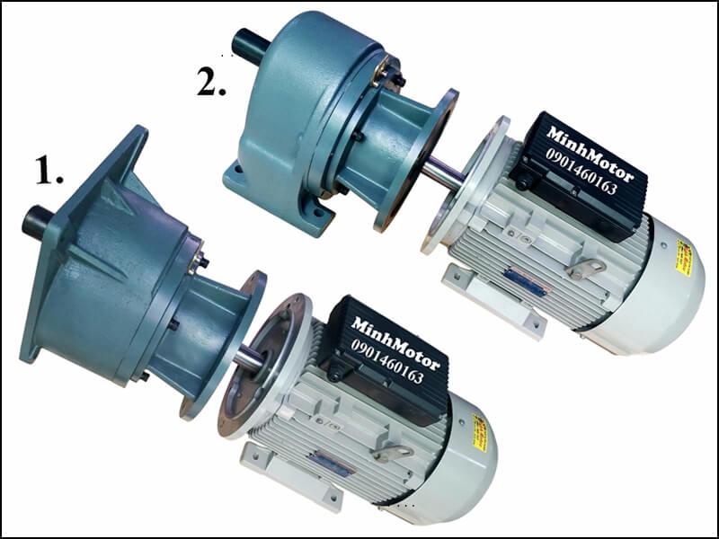 giảm tốc 3.7kw 5HP 1/15 tốc độ trục ra 93-100 vòng