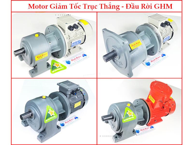motor hộp số GHM đầu rời 5HP 3.7kw 380v 1/10